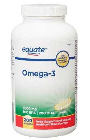Equate Omega-3 Softgels 1,000 mg - image 1 of 2