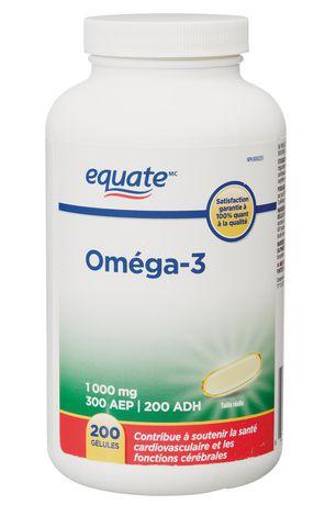 Equate Omega-3 Softgels 1,000 mg - image 2 of 2