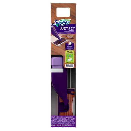 Swiffer Wetjet Wood Hardwood Floor Mop Starter Kit