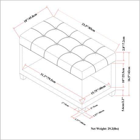 WyndenHall Marlowe Storage Ottoman Bench - image 6 of 6