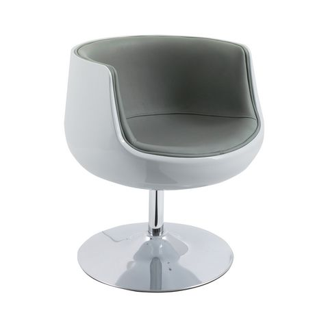Corliving Mod Modern Bonded Leather Barrel Chair Walmart
