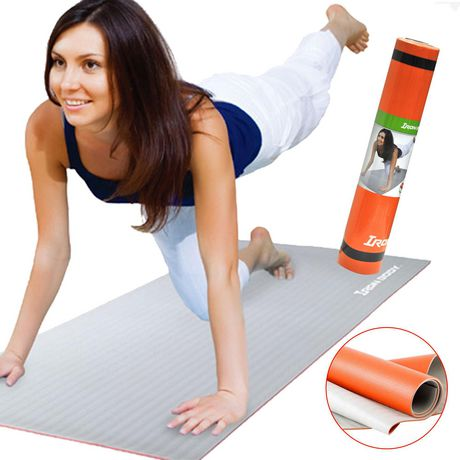 Tapis de yoga bicolore avec sangle de transport d'Iron Body Fitness - image 1 de 2