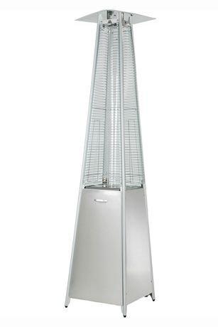 Zen-Temp Stainless Steel Glass Tube Propane Patio Heater | Walmart ...