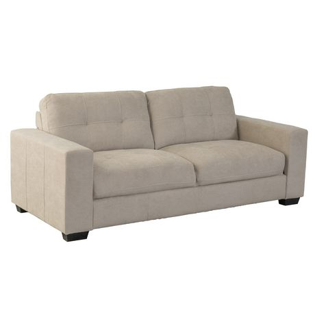 Cor Living Club Tufted Beige Chenille Fabric Sofa by Cor Living
