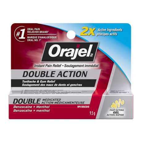 Orajel Double Action Toothache Pain And Gum Relief