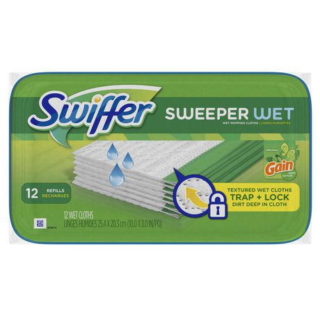 swiffer sweeper wet mopping pad refills and broom floor cleaner refills gain scent - Swiffer Mop