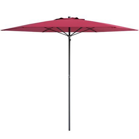 parasol de patio plage corliving de 7 5 pi en rouge r sistant aux rayons uv et au vent. Black Bedroom Furniture Sets. Home Design Ideas