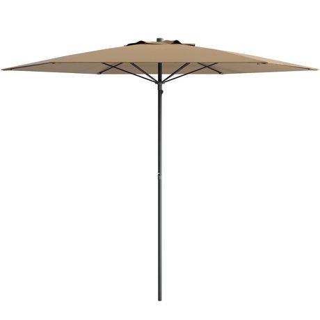 parasol de patio plage corliving de 7 5 pi en brun. Black Bedroom Furniture Sets. Home Design Ideas