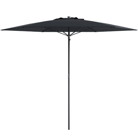 parasol de patio plage corliving de 7 5 pi en noir. Black Bedroom Furniture Sets. Home Design Ideas