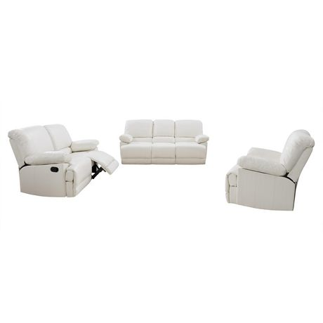 CorLiving Lea Reclining Bonded Leather 3 Piece Sofa Set - image 1 of 9