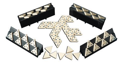 Pressman Toys Tri-Ominos - The Domino Game (Three Sided Twist) - image 2 of 2