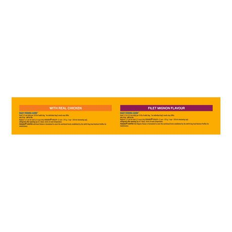PEDIGREE Wet Chopped Chicken, Filet Mignon Multipack 24 x 375g - image 2 of 6