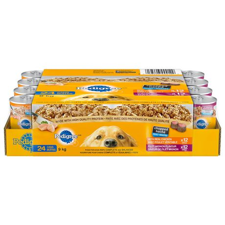 PEDIGREE Wet Chopped Chicken, Filet Mignon Multipack 24 x 375g - image 1 of 6