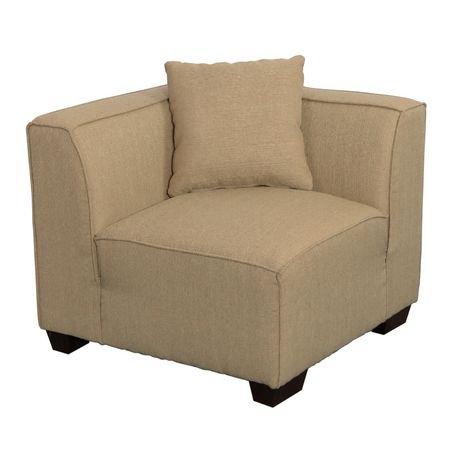 fauteuil de coin en tissu lida de corliving en beige walmart canada. Black Bedroom Furniture Sets. Home Design Ideas