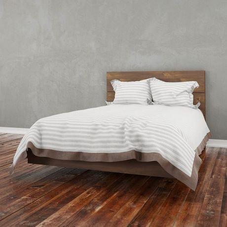 Nexera Nocce Full Size Truffle Headboard And Platform Bed