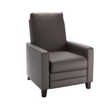 fauteuil inclinable corliving kelsey en cuir reconstitu. Black Bedroom Furniture Sets. Home Design Ideas