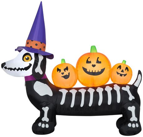 Airblown Inflatable 5' Skeleton Dog - image 1 of 1