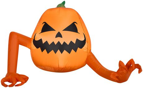 Airblown Inflatable 4' Crawling Pumpkin Monster - image 1 of 1