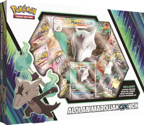 Pokemon Cards Tcg Alolan Marowak Gx Box 4 Booster Pack A Foil Promo Card A Foil Oversize Card