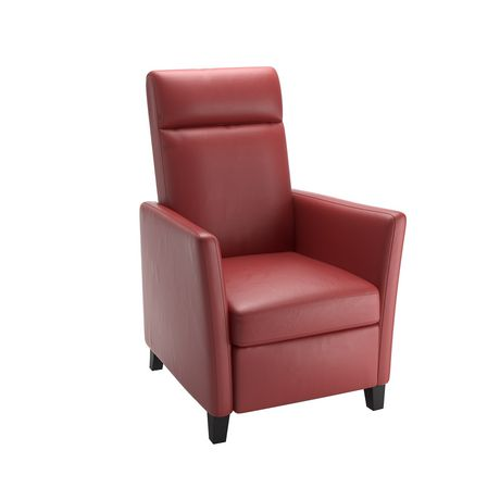 CorLiving Elise Red Bonded Leather Recliner - image 1 of 5