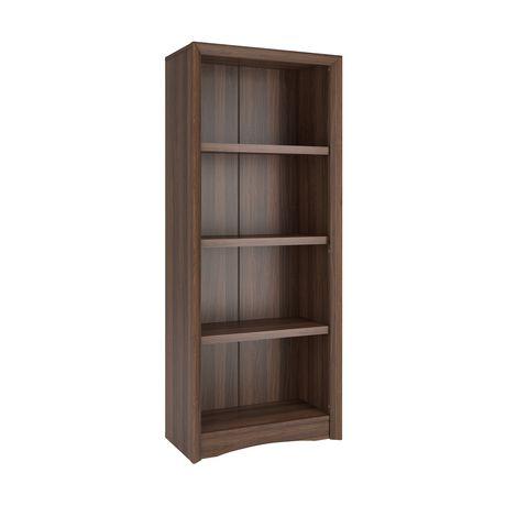 biblioth que corliving quadra 59 po avec faux fini couleur noyer. Black Bedroom Furniture Sets. Home Design Ideas
