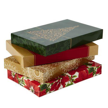 Christmas Gift Boxes.Hallmark Image Arts Assorted Christmas Designs Shirt Gift Boxes