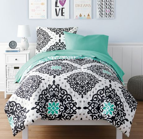 Mainstays Kids Diamond Medallion Bed in a Bag Bedding Set - image 1 of 1