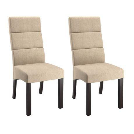 Corliving Antonio Set Of 2 Tall Back Cream Upholstered