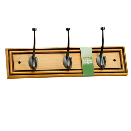 Stanley Home Designs 3 Hook Wood Rail Maple Walmart Canada