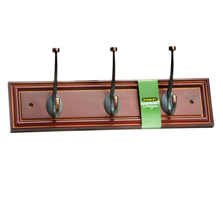 Stanley Home Designs 3 Hook Wood Rail Espresso Walmart Canada