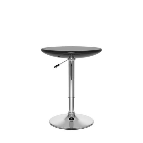 CorLiving Glossy Black Adjustable Height Round Bar Table | Walmart Canada