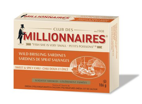 Millionnaires Wild Brisling Sardines, Sweet and Spicy Chili - image 1 of 2