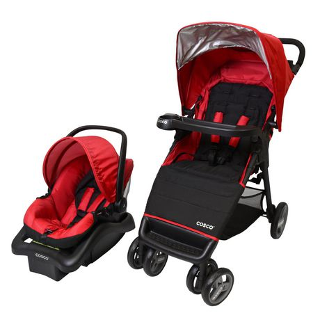 Cosco Simple Fold Plus Travel System - Ruby Red - image 3 of 9