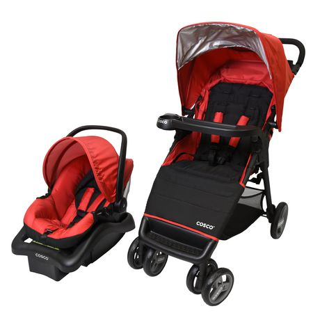 Cosco Simple Fold Plus Travel System - Ruby Red - image 2 of 9
