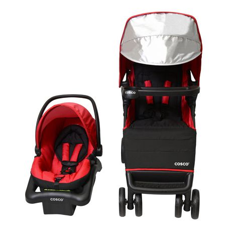 Cosco Simple Fold Plus Travel System - Ruby Red - image 4 of 9