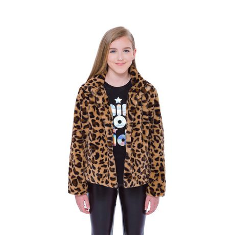 Girls Mini Pop Kids Animal Vibe Faux Fur Jacket - image 4 of 7