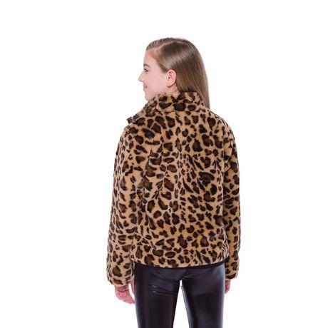 Girls Mini Pop Kids Animal Vibe Faux Fur Jacket - image 3 of 7