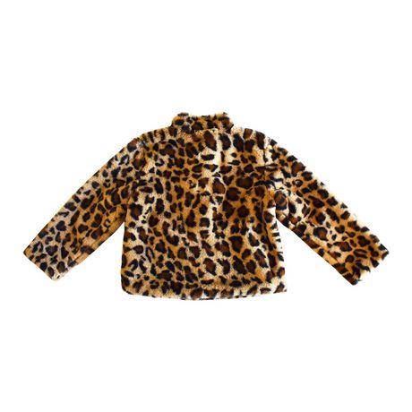 Girls Mini Pop Kids Animal Vibe Faux Fur Jacket - image 6 of 7