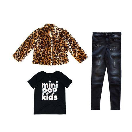 Girls Mini Pop Kids Animal Vibe Faux Fur Jacket - image 7 of 7