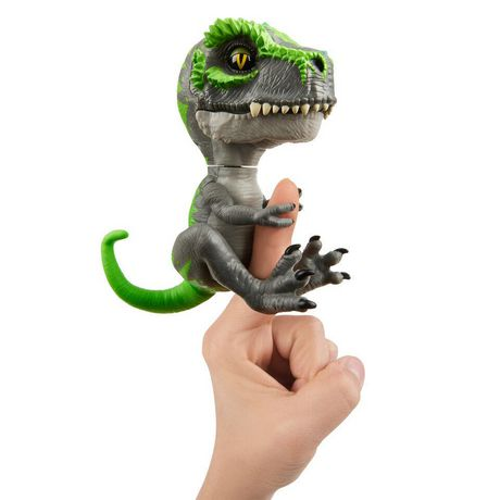 Untamed T-Rex by Fingerlings – Tracker (Black/Green) - Interactive Collectible Dinosaur - by WowWee - image 3 of 5