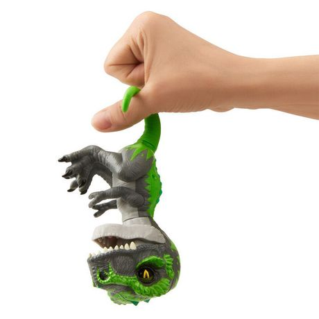 Untamed T-Rex by Fingerlings – Tracker (Black/Green) - Interactive Collectible Dinosaur - by WowWee - image 4 of 5