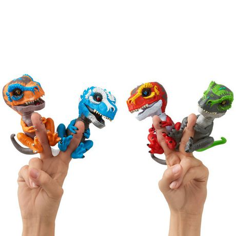 Untamed T-Rex by Fingerlings – Scratch (orange) - Interactive Collectible Dinosaur - by WowWee - image 5 of 5