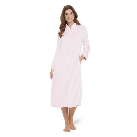 Robe De Chambre En Peluche Avec Fermeture Eclair George Pour Femmes Walmart Canada