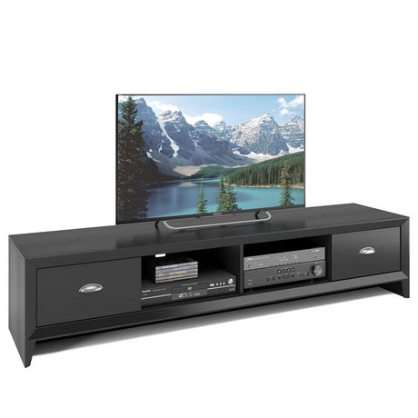 Awesome Corliving Lakewood Extra Wide Tv Bench In Black Wood Grain Finish Uwap Interior Chair Design Uwaporg