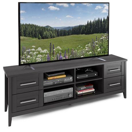 CorLiving Meuble pour téléviseur faux-fini de bois noir - image 1 de 4