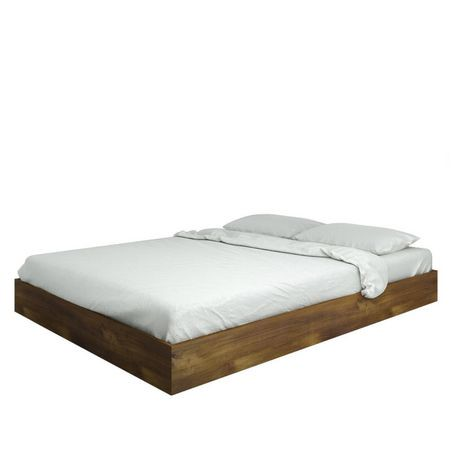 nexera lit plateforme collection nocce grand brun. Black Bedroom Furniture Sets. Home Design Ideas
