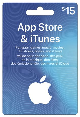Apple $15 App Store & Itunes Gift Card