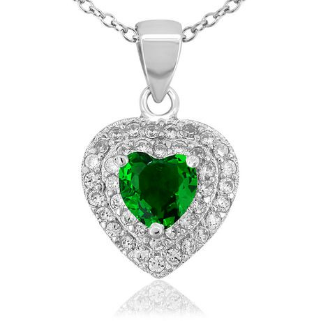 womens set gr earrings pure cz en walmart sterling silver ip canada women stud in shaped earr s emerald heart