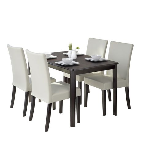 CorLiving Atwood 5-Piece Dining Set with Cream Leatherette Seats - image 1 of 8