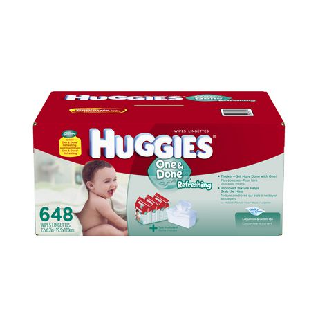 Huggies One And Done Wipes Refill 648 Count Walmart Ca